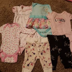 Lot 6 pieces: baby clothing size 0-3